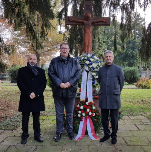 Jochen Lüdicke, Vereinsring, Peter Scholz, VdK und Pastoralrefent Reiner Jöckel.
